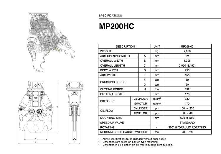 MP200HC Drawing