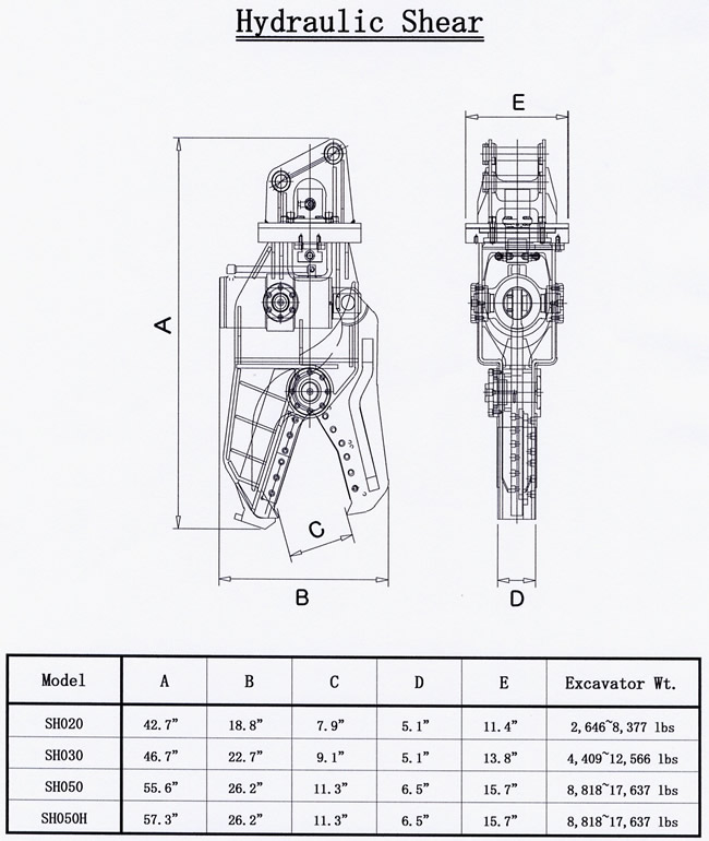 Hydraulic Shear Drawing