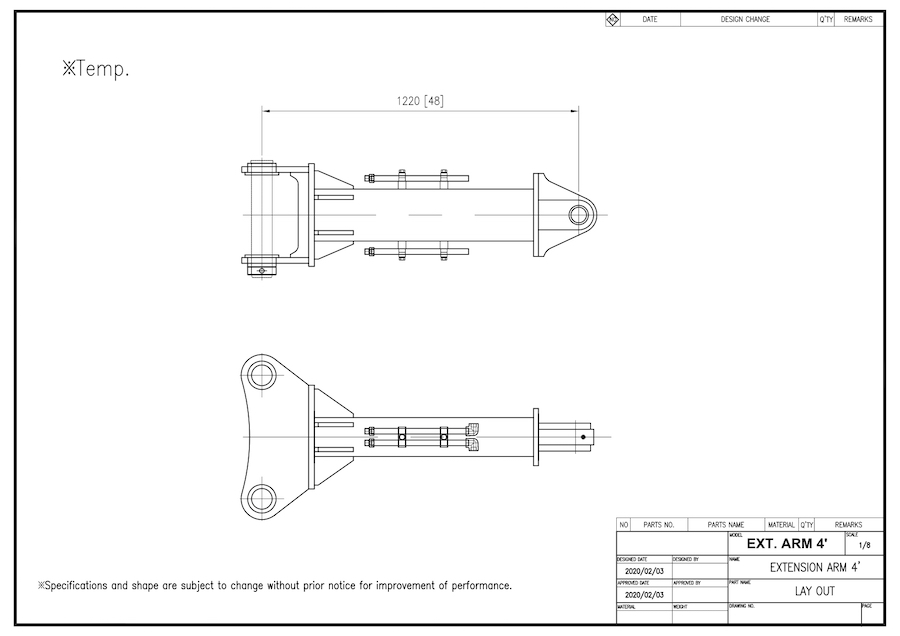 Extension Arm Type - A