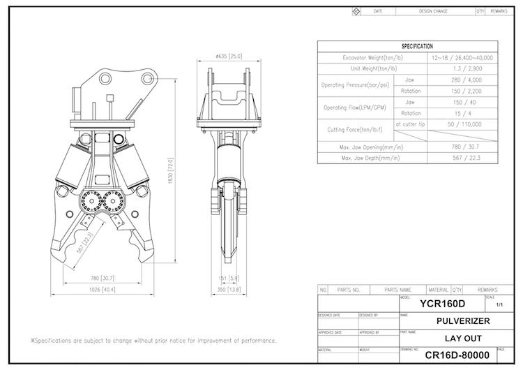 YCR 160 Drawing