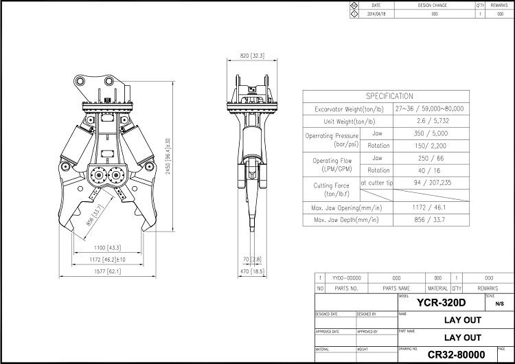 YCR 320 Drawing