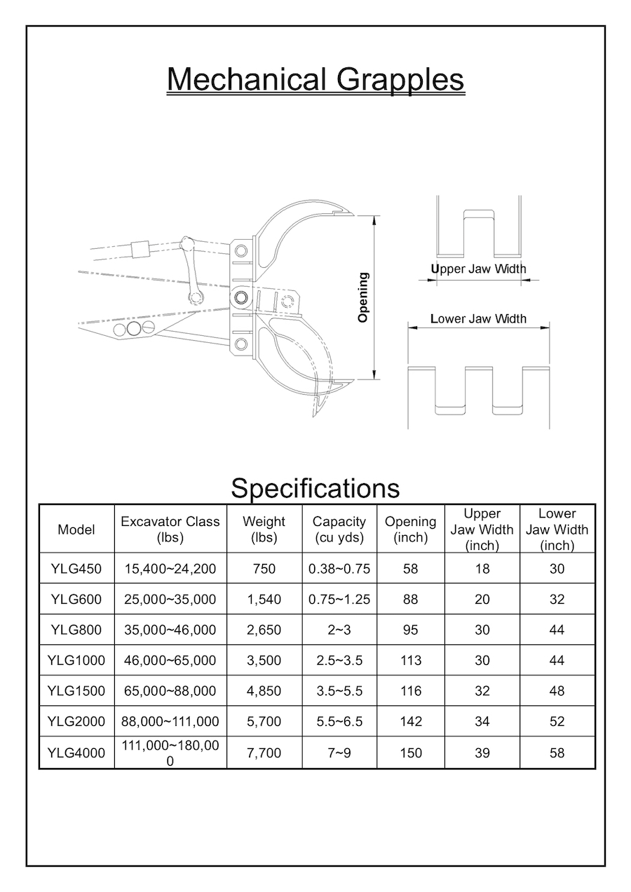 YLG Grapple Specification