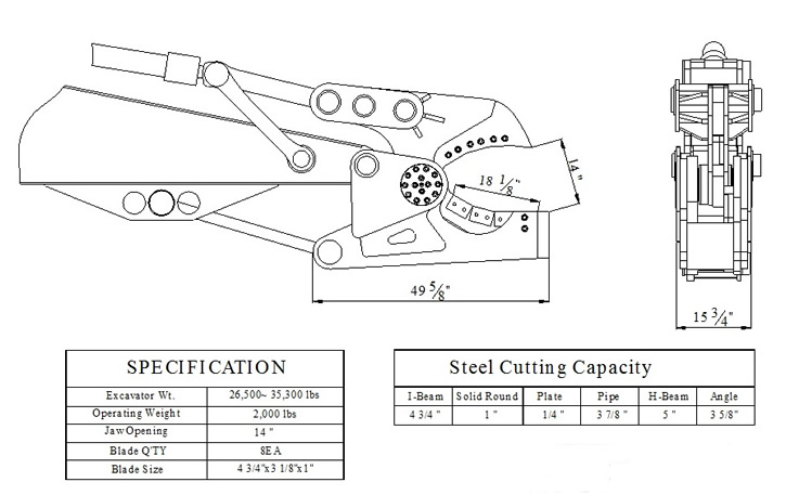 YLS-160 Small Bucket Linkage Shear