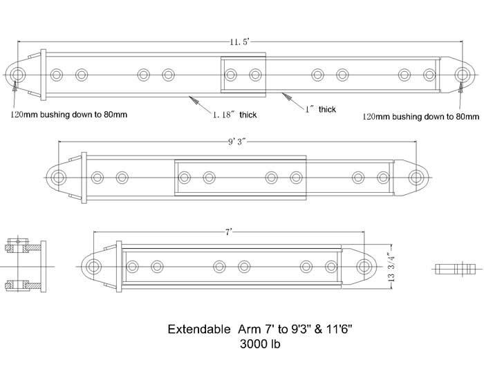 Extendable telescoping attachment extension