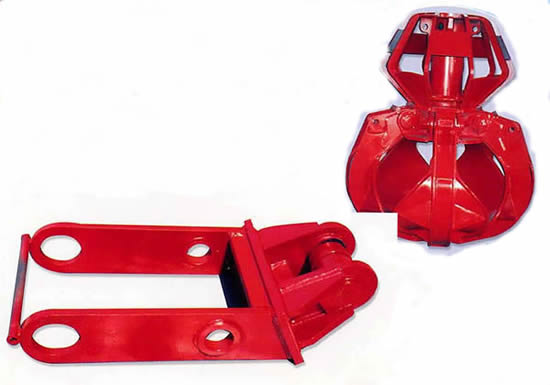Extension arm with grapple