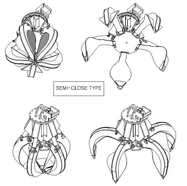 YM Series, Semi-Close Type Drawing
