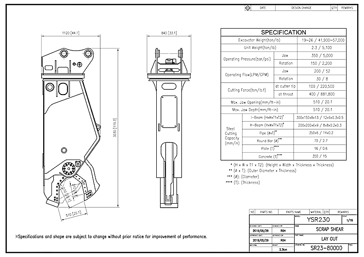 YSR 230 Drawing