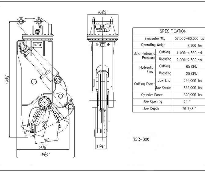 YSR 330 Specification