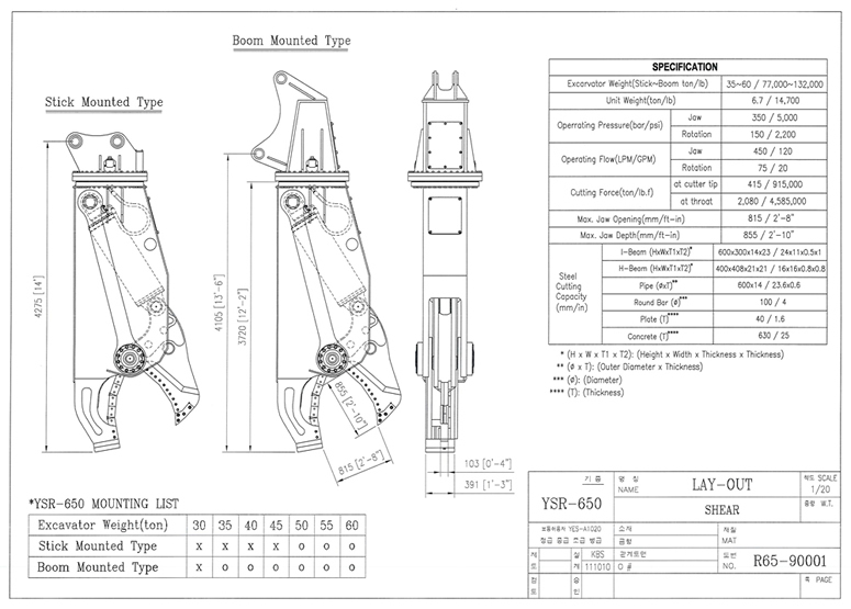 YSR Specification